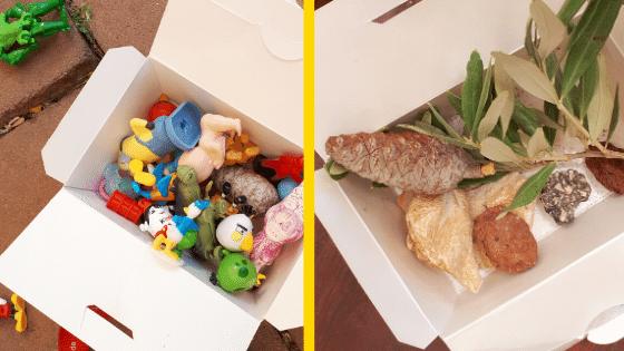 מה עושים עם הילדים בבית- קופסה עם אובייקטים קטנים